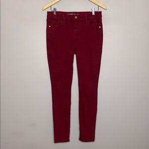 Old Navy Maroon Mid Rise Rockstar Skinny Jeans 10